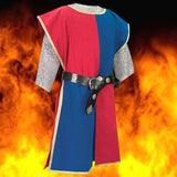 Knightly Tabard with Embroidered Crest - Red & Blue