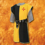 Knightly Tabard with Embroidered Crest - Black & Yellow