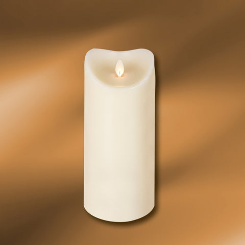 "LED Wax Pillar Candle 3-1/2"" x 9"""