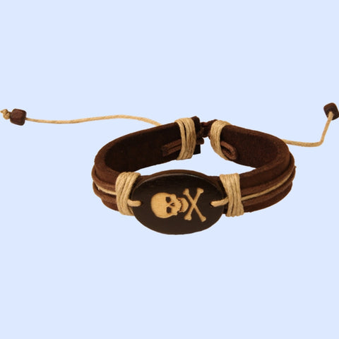 Leather Pirate Corded Bracelet