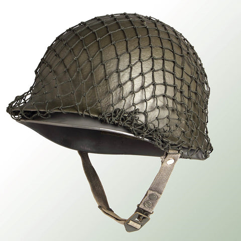 M1 Style Steel Surplus Helmet with Net