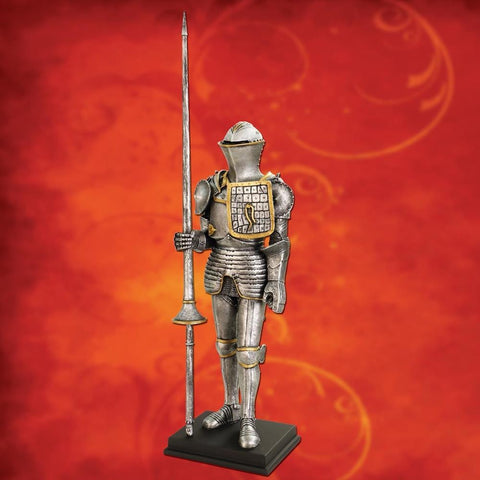 Medieval Armor with Lance Statue