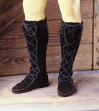 Medieval High Boot without Fringe - Black