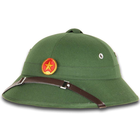 North Vietnamese Army Vietcong Pith Helmet - Red Star badge
