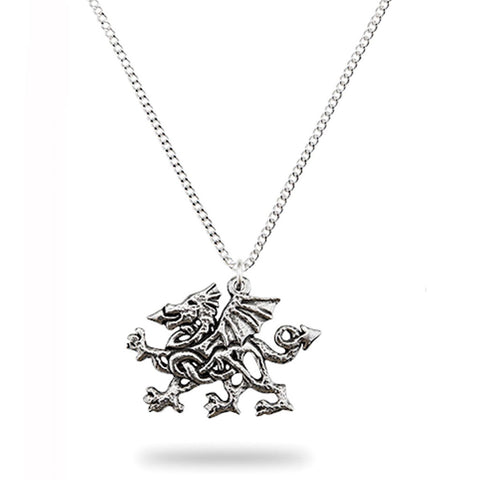 Pewter Celtic Welsh Dragon Pendant