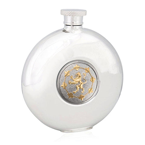 Rampant Lion Round Flask - Costumes and Collectibles