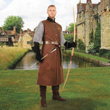 Ranger Tunic with Embroidered Crest - Brown