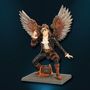 Sky Pirate Statue with Clockwork Wings