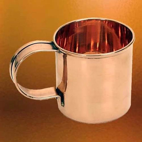 Solid Copper Coffee Mug for Camping and Adventure