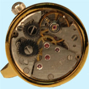 Steampunk Clockwork Mechanical Cuff Links