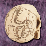 Treasure Map Skull - right back profile