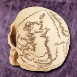 Treasure Map Skull - left back profile