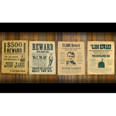 Wanted Posters Set