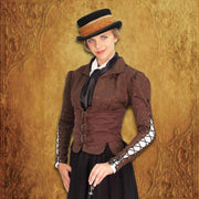 Winchester Brown Corset Coat - Front