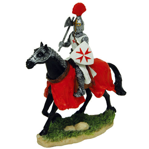 Armored Crusader on Horseback Statue - Costumes and Collectibles