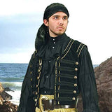 Black Pirate Vest - costumesandcollectibles