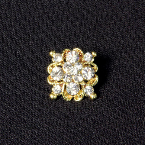 Crystal Cluster Cravat Pin - costumesandcollectibles