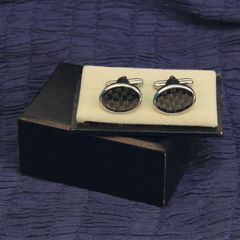 Cuff Links Black Checkered - costumesandcollectibles