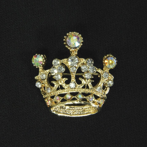 Golden Crown Brooch - Costumes and Collectibles