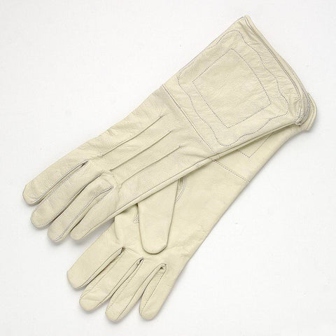 Civil War Confederate Enlisted Men's Cream Leather Gauntlets
