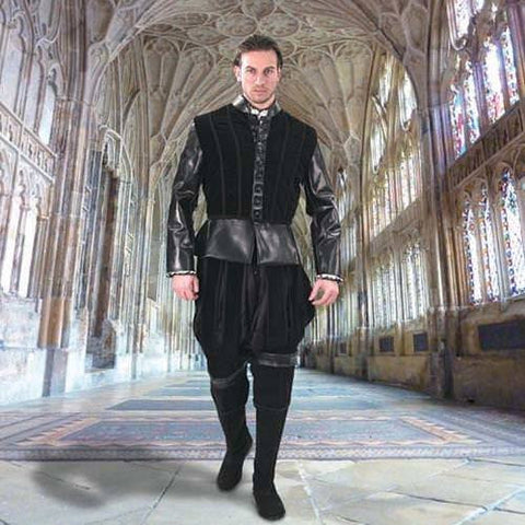 Duke of Suffolk Faux Leather Doublet - costumesandcollectibles