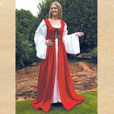 Fair Maiden's Dress Red - Costumes and Collectibles