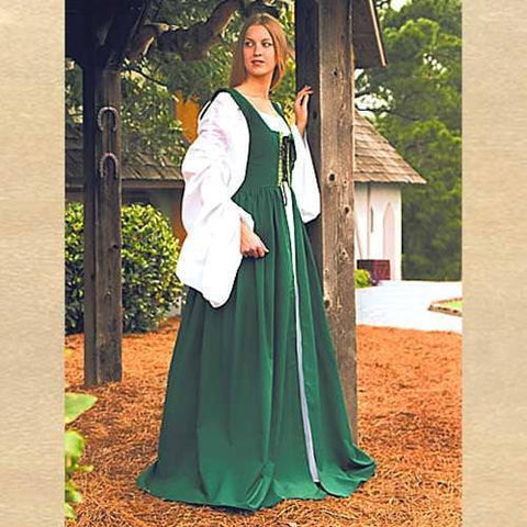 Fair Maiden's Dress Green - Costumes and Collectibles