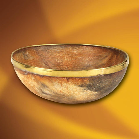 Einar Horn Feasting Bowl with Brass Rim