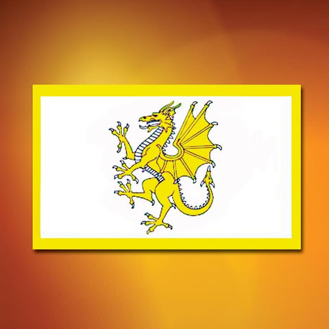 Golden Welsh Dragon Flag - costumesandcollectibles