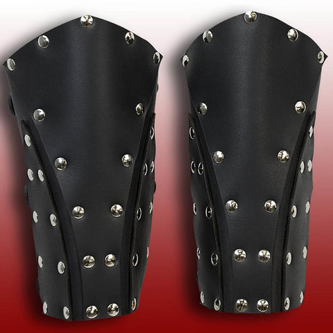 Dark Rogue Leather Vambraces - costumesandcollectibles