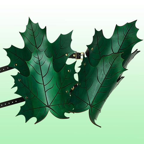 Elven Leaf Leather Greaves - costumesandcollectibles
