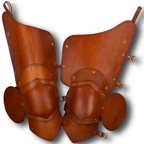Knightly 3/4 Leather Upper Leg Armour