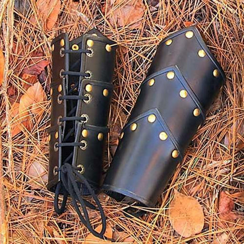 Leather Swordsman Vambraces