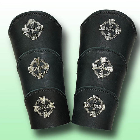 Celtic Warrior Leather Arm Vambraces - costumesandcollectibles