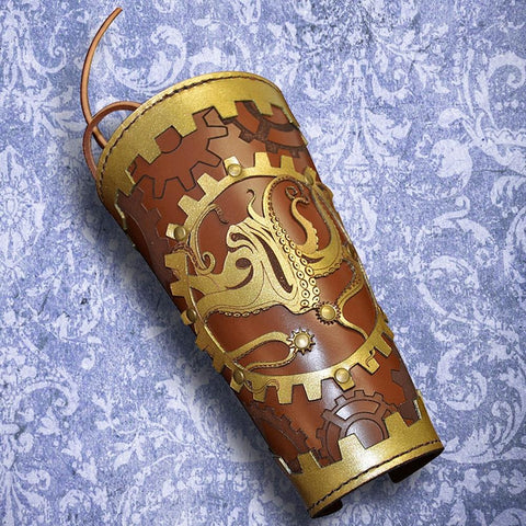 Steampunk Single Leather Vambrace
