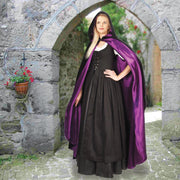 Hooded Black Velvet Cloak