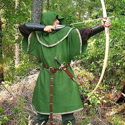 320ce56636d Huntingdon Green Over Tunic with Hood – Costumes and Collectibles