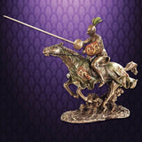 Jousting Knight w/ Lion Statue - costumesandcollectibles