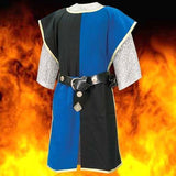 Blue knightly tabard