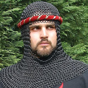 Blackened Mail Armor Coif - costumesandcollectibles