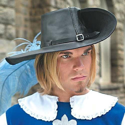 Leather Cavalier Hat - Costumes and Collectibles