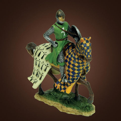 Checkered Knight on Horseback Statue - costumesandcollectibles