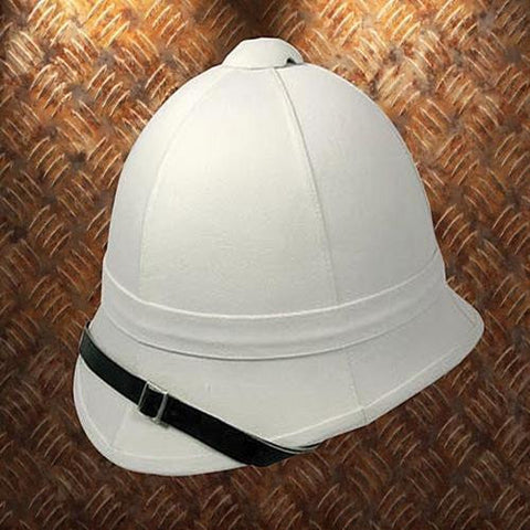 Classic White Pith Helmet - costumesandcollectibles