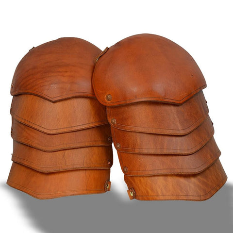 Leather Spaulders - Brown