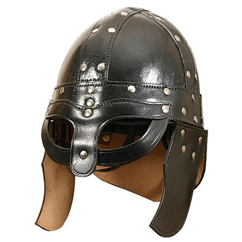 Leather Viking Helmet