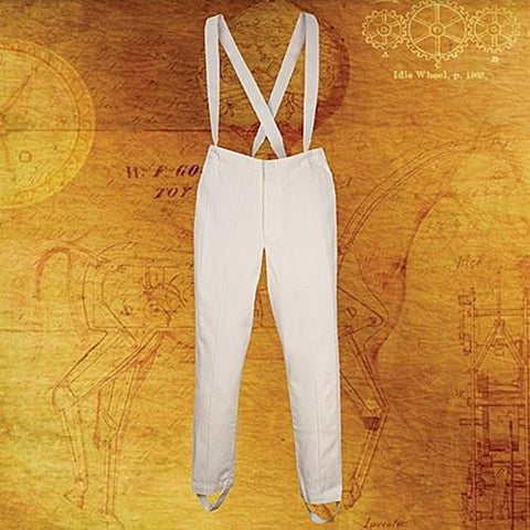 Britannia White Pants with Suspenders - costumesandcollectibles