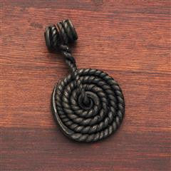 Forged Coil Pendant