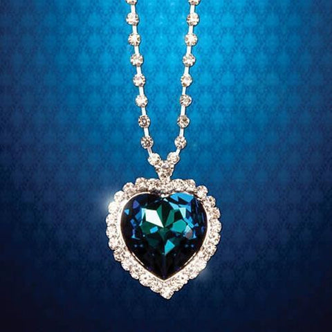 Heart of the Ocean Large Turquoise Pendant - costumesandcollectibles