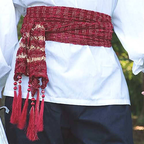Pirates Sash - Burgundy