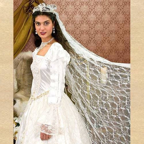 Renaissance Wedding Dress.Renaissance Wedding Gown Veil